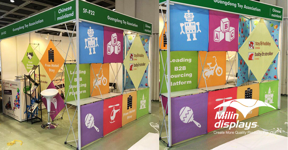 3D Snap Floor Display; Tension Fabric Displays; Trade Show Displays/Backdrops; backdrop stand.